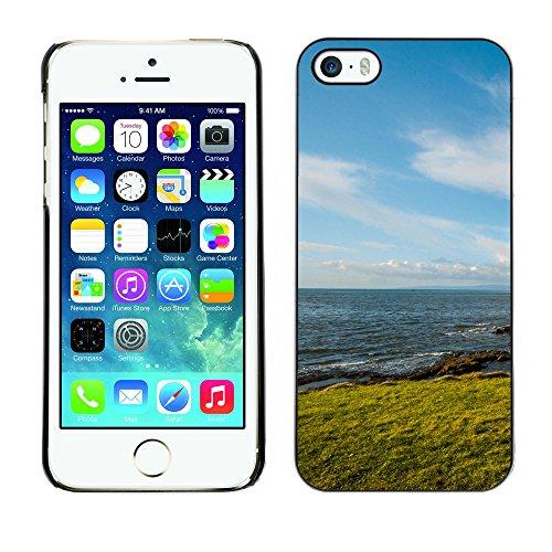 Premio Sottile Slim Cassa Custodia Case Cover Shell // F00030136 plage de rocher // Apple iPhone 5 5S 5G