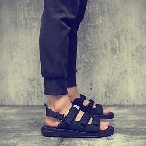 Romanas De 42 Black Tendencia Black De Sandalias Hombres De Zapatos Ocasionales Respirables Para Playa Sandalias Verano qfY4w6U