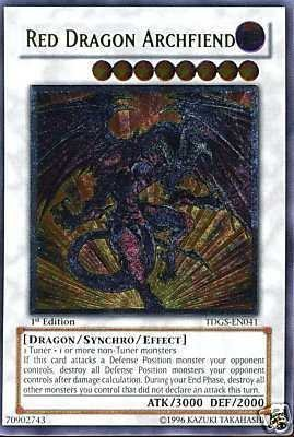 Yu-Gi-Oh! - Red Dragon Archfiend (TDGS-EN041) - The Duelist Genesis - 1st Edition - Ultimate Rare B0062E2JSE