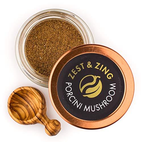 Porcini Mushroom (Ground), 0.7 oz- Premium Spice Blends By Zest & Zing. Fresher, convenient, stackable Spice (Beef Tenderloin Mushroom)