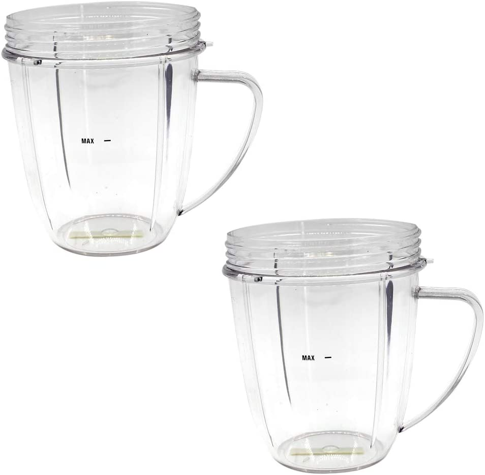 Anbige 18oz Cups With Handle Replacement Parts for Nutribullet 600W and 900W (2 18oz Cups with Handle)