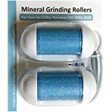 Replacement Rollers for Care me Rechargeable Callus Remover (Model# CM202) - Effectively Removes Hard and Cracked Skin and Calluses on Feet - a Pack of 2 (blue)