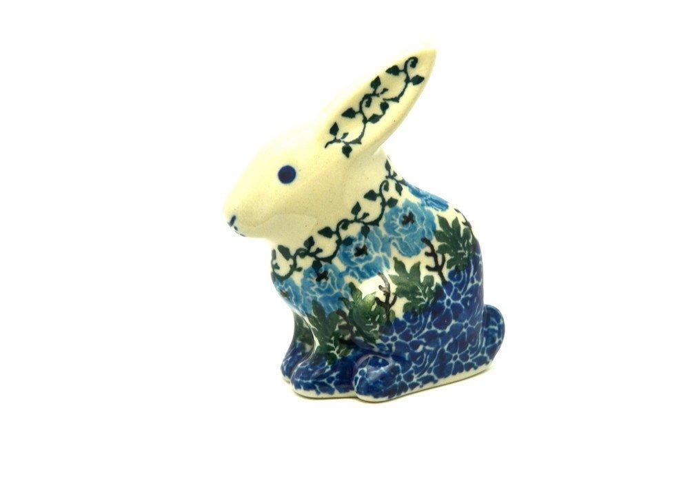 Polish Pottery Rabbit Figurine - Antique Rose