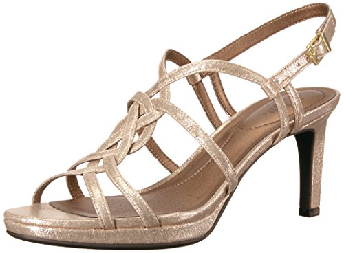 LifeStride Women's Introspect Dress Sandal Soft Gold