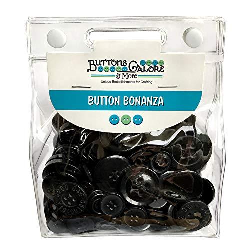 Botones de abundancia teñido a mano botones, negro