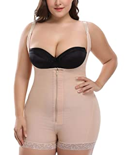 3f8f044f42b Fendxxxl Women's Plus Size Body Shaper Open-Bust Seamless Tummy Control  Shapewear Bodysuit