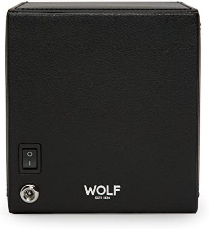 Cub Single Automatic Watch Winder with Cover by way of Wolf