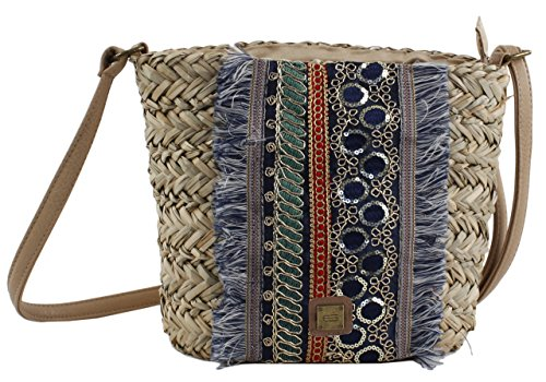 Borse Bluebags Azul EFERRI Bolso Messenger Azul Blu Donna Tallulah Nature qXwfZxr4XH
