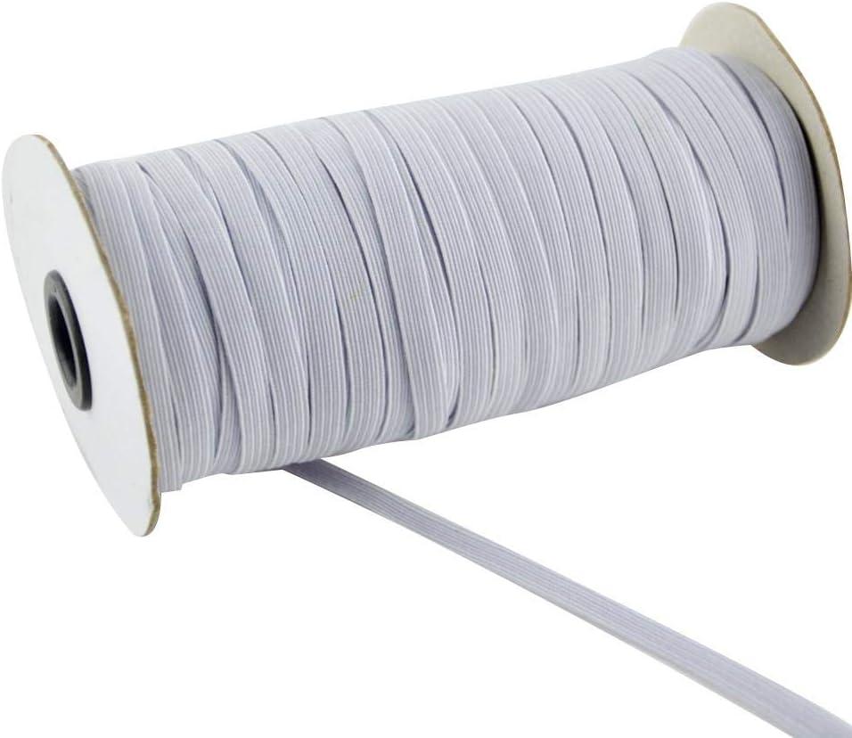 Bande /Élastique Pour La Couture Corde /Élastique Largeur Extensible Du Cordon Artisanat Tress/é Corde /Élastique Pour Lartisanat Perles De Bricolage Bobine /Élastique En Tricot Extensible Lourd