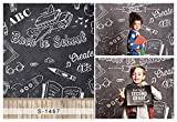 Laeacco 3x5ft Vinyl Thin Photography Backgrounds Back to School Theme Wood Floor for Students Photo Backdrop 1*1.5m Studio Props