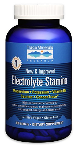 Electrolyte Stamina Tablets, 300 Tabs by Trace Minerals (Pack of 2) For Sale
