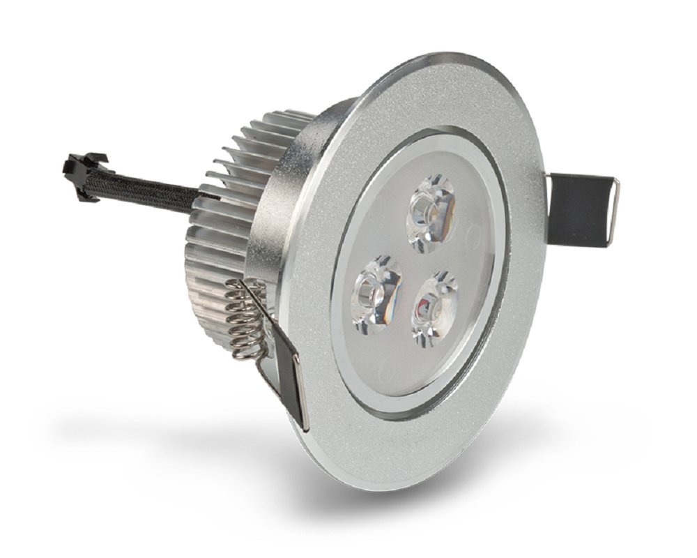 LEDQuant 3 Watt Dimmable Recessed LED Lighting Fixture with Driver, Recessed Downlight, Warm White