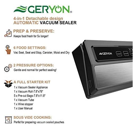 GERYON Automatic Vacuum Sealer Machine and Bags