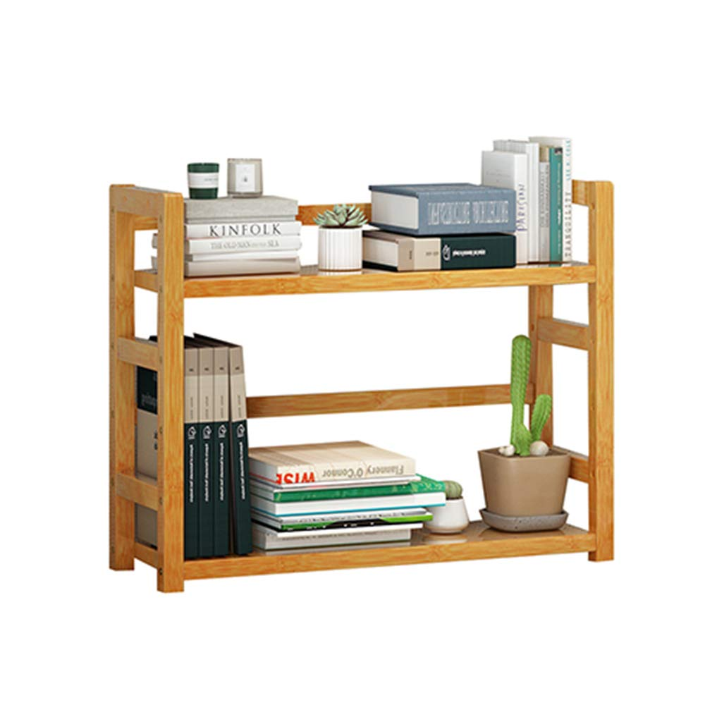 36x18x43cm Bookshelf - Wooden Desktop Bookshelf Dormitory Bookcase Rack Storage Rack Display Rack Desk Storage High Capacity (Size   36x18x43cm)