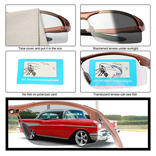 YIMI Polarized Photochromic Driving z87 Sunglasses For Men Women Day and Night safety glasses