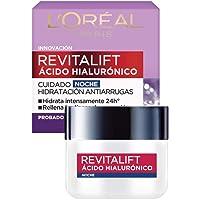 Crema hidratante anti-líneas de expresion Revitalift Ácido Hialurónico Noche de L'Oréal Paris, 50 ml