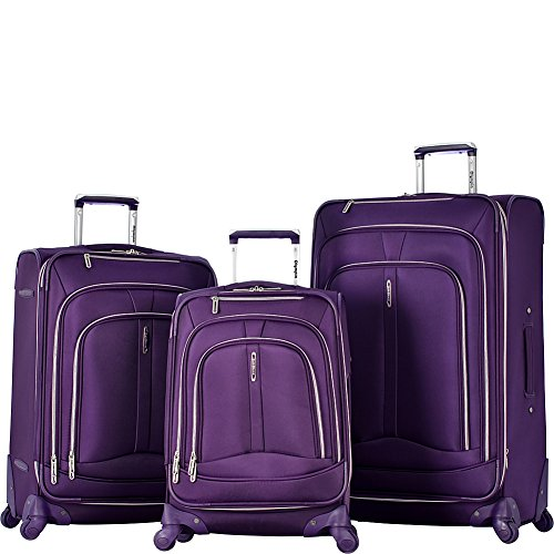 Olympia Marion 3pc Luggage Set W/Luggage Cover