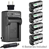 Kastar NP-FM500H Battery (4-Pack) and Charger Kit for Sony DSLR-A100 A200 A300 A350 A450 A500 A550 A560 A580 A700 A850 A900 Alpha SLT A57 A58 A65 A65V A77 A77V A77 II A77M2 A99 A99V CLM-V55 Cameras