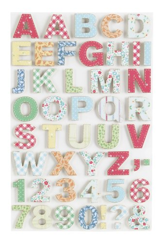 Martha Stewart Crafts Stickers, Stitched Alphabet (Scrapbook Letters Stickers)