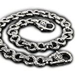 14'' ~ 36'' 316L Stainless Steel Gothic Cross Mens Biker Wallet Chain 4B006WC Claps 3P6 (36 inches)