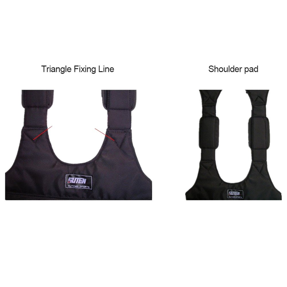 color negro 20 kg 10 Negro Handfly Chaleco de entrenamiento con pesas ajustables