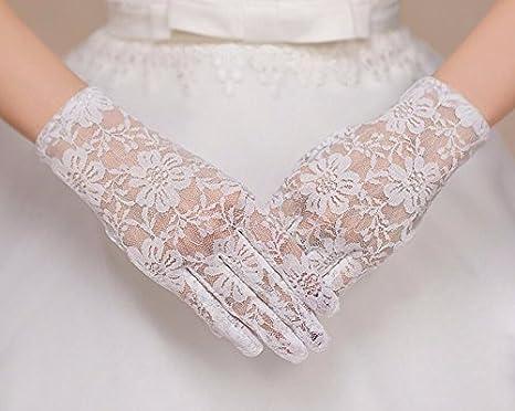 size 40 a5ee3 73f24 KHSKX-Sottile Pizzo Nero Guanti Sposa Il Vestito da Sposa di ...