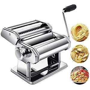 Tobeelec Macchina per Pasta, Macchina per segnare la Pasta Manuale in Acciaio Inossidabile con Taglia Spaghetti, Clip di…