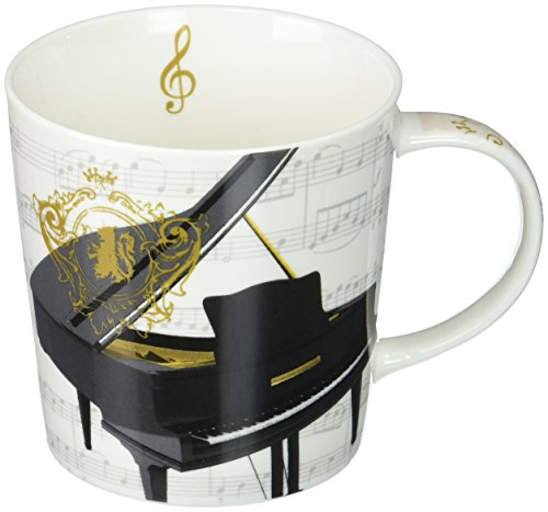 Coffee Gift Concerto (Paperproducts Design 603101 Concerto Piano Gift Boxed Mug, Black)