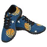 InterestPrint Women's Jogging Running Sneaker Lightweight Go Easy Walking Casual Comfort Sports Running Shoes Size 7 Basketball