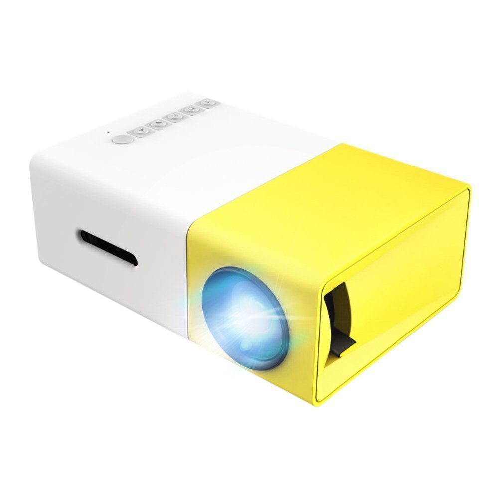 OEM A1 LED LCD (QVGA) Mini Video Projector - US Version (Includes Warranty) - White/Yellow (FP3224A1WY)
