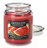 Candlelite Scented Evening Fireside Glow Single-Wick Jar Candle, 18 oz, Off White