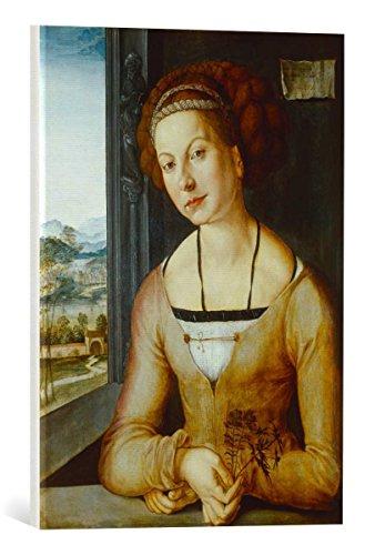 kunst für alle Canvas Print: Albrecht Dürer Portrait of Katharina Frey Fine Art Print, Canvas on Stretcher, Ready to Hang Wall Picture, 15.7x21.7 inch / 40x55 cm