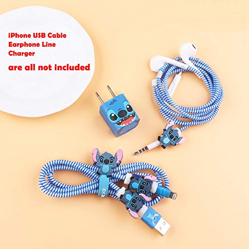 (ZOEAST(TM) DIY Protectors Apple USB Data Line Cable Charger Earphone Wrap Elastic Wire Saver Protector Compatible with iPhone 5 5S SE 6 6S 7 8 Plus X XS Max iPad (No Box, Stitch))