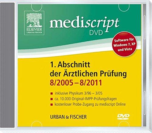 Mediscript 1. Abschnitt der Ärztlichen Prüfung 8/05-8/11 DVD, inkl ...