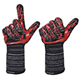 DOFAN SF Multifunction Oven Gloves Heat Resistant Premium Insulated And Silicone BBQ Gloves For Cooking Baking