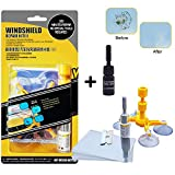 Car Windshield Repair Kit,Windshield Repair Resin for Fix Auto Glass Windshield Crack Chip Scratch (Complimentary Bottle of Repair Resin)