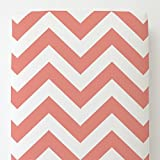 Carousel Designs Light Coral Large Chevron Toddler Bed Sheet Fitted