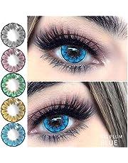 2 stks/paar Ogen Cosmetica, Gekleurde Super Natuurlijke Lens, Halloween Cosplay Kleurrijke Cosmetische bril leerlingen leerling, Glamoureuze Bril schattige en charmante ogen
