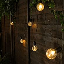 LED Bulb Garden String Lights,WONFAST Waterproof 20ft 20LED Plastic Globe Ball Fairy String Lights Battery Powered for Indoor/outdoor (Clear Ball-Warm)