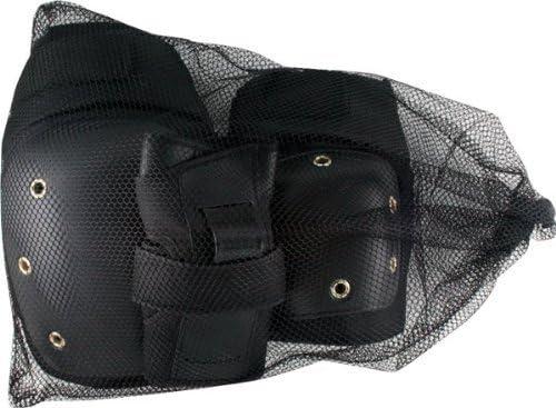 Essentialsスケートボード安全gear-6 PK – 膝、肘、手首パッド – ブラック – Large