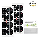 #8: YuCool AC Dash Button Repair Kit, 2 Piece Decal Replacement for Buick Enclave, Fix Ruined Faded A/C Controls Stickers
