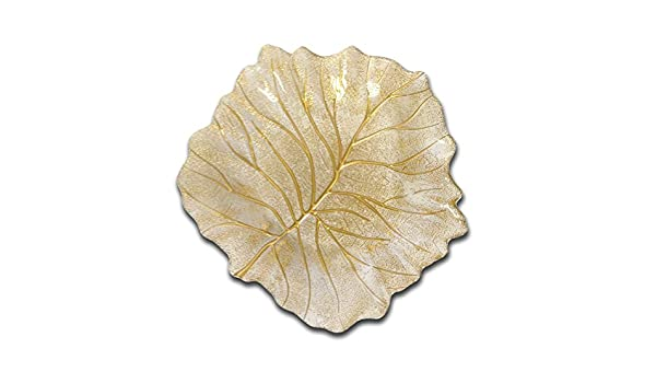 Gold Classic Touch CB537 Beveled Oval Bowl 14.5 by 9.75-Inch