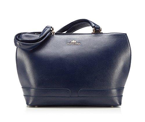 Wittchen Bolso elegante | Color: Azul | Material: Cuero de grano | Tamaño: 27 x 43 | Colección: Elegance | 85-4E-360-7