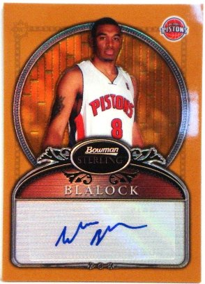 2006-07 Bowman Sterling Refractors Gold #81 Will Blalock Autograph Card Serial #