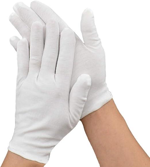 SMARTRICH guantes de algodón blanco, para eczema, piel seca ...