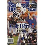 Peyton Manning Sports Illustrated Autograph Poster - Heroes