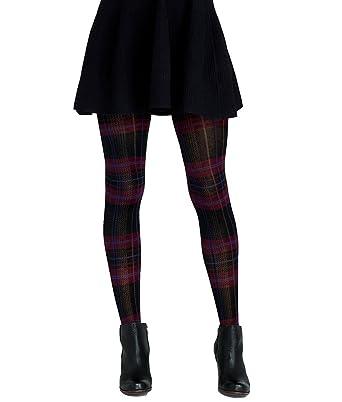 ed1dc7f215f HUE Plaid Sweater Tights