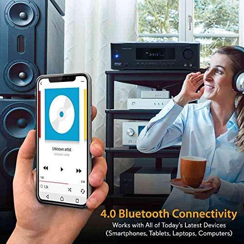 5.2-Channel Hi-Fi Bluetooth Stereo Amplifier – 1000 Watt AV Home Speaker Subwoofer Sound Receiver W/ Radio, USB, RCA, HDMI, Mic In, Wireless Streaming, Supports 4K UHD TV, 3D, Blu-Ray – Pyle PT694BT 51mn 2B zhMiL