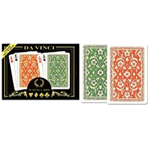 DA VINCI Venezia, Italian 100-Percent Plastic Playing Cards, 2-Deck Bridge Size Regular Index Set, with Hard Shell Case and 2 Cut Cards
