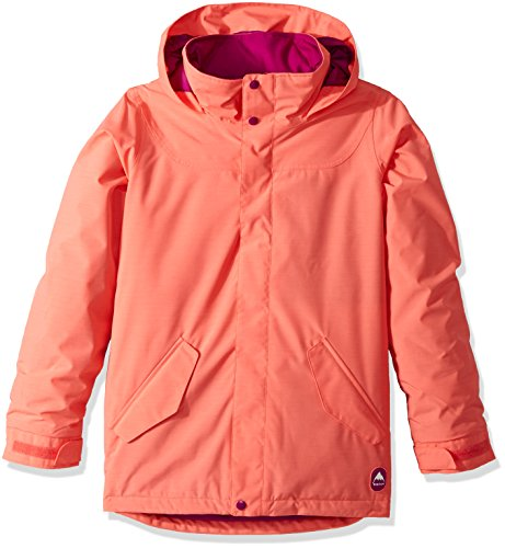 Burton Youth Girls Elodie Jacket, Georgia Peach, (Burton Girls Fleece Jacket)